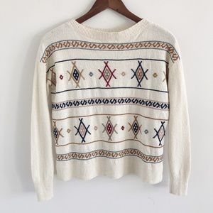 Madewell Embroidered Reseda Pullover Sweater XXS